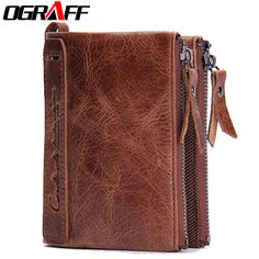 OGRAFF Purse Genuine Leather Men Wallets Clutch Male Clutch Bag Coin Purse  Card Holder For Men Portfolio Perse Small Mini Wallet-in Wallets from  Luggage ... 6422197584c41