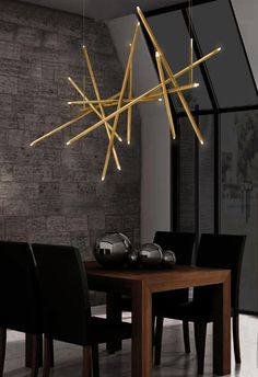 Brass and Steel Chandelier by Lighting Lamp Design on Etsy