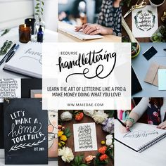 hand lettering e-cou