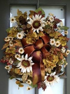 Summer, Fall, Thanks Giving Floral arrangement Door Wreath/Swag
