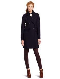 Trina Turk Women's Soho Classic Reefer Coat, Navy, 12 Trina Turk. $297.50