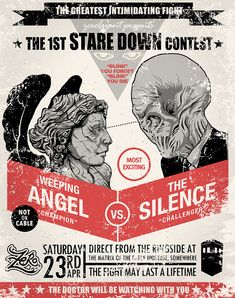 doctor who wheeping angel vs the silence Weeping Angel vs The Silence  geek bonus
