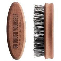 Brosse à Barbe en poils d'Agave Brooklyn Soap Company - Entretien de la barbe homme