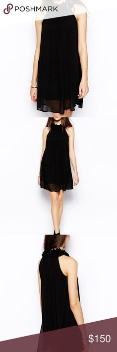 🆕French Connection Georgie Georgette Halter Dress NWT. French Connection Style#71NV8. Black. Several Sizes Available. Offers Welcome. MSRP $248. French Connection Dresses