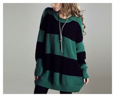 S-XL 4 Colors Dark Green/Black Color Block Knit Loose Fit Sweater Plus Size Women Sweater Pull Over Tshirt Sweater Long Sleeve Top Sweater on Etsy, $59.00