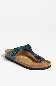 LOVE this colour! - Birkenstock 'Gizeh' Birko-Flor™ Thong available at #Nordstrom