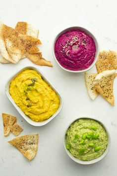 Cold Meals, Guacamole, Hummus, Healthy Eating, Healthy Food, Dips, Base, Yummy Food, Vegan