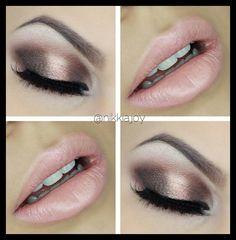 Bronze and nude tones Pink Eye Makeup, Lip Makeup, Nikkia Joy, Huda Kattan, Lip Contouring, Huda Beauty, Eyeshadow, Make Up, Lipstick