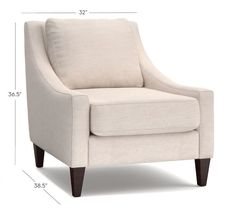Aiden Upholstered Armchair | Pottery Barn