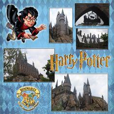 Harry Potter Digital Scrapbook Page by chantel@scrapbooksista.com