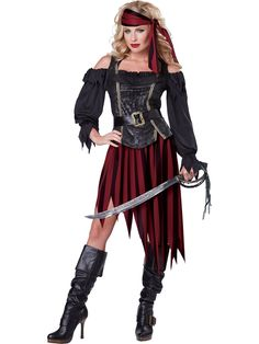 Queen of the High Seas Womens Costume - Pirate Womens Costumes