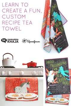 Learn how @heysammyk created these enormously fun recipe tea towels from The Spoonflower Handbook in her full post.