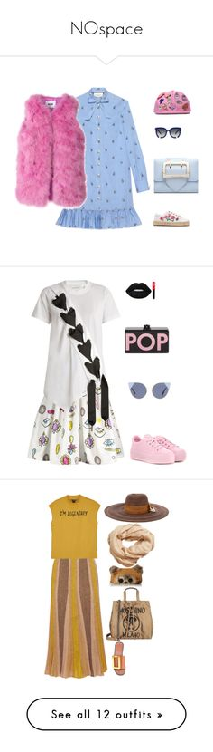 NOspace by canoethemoose on Polyvore featuring polyvore, fashion, style, Gucci, Soludos, Grey Ant, MSGM, Moschino, clothing, Marques'Almeida, Kenzo, Lime Crime, Fendi, Edie Parker, Missoni, Monki, Boyy, Loungefly, Littledoe, MANGO, ESCADA, South Parade, Loewe, Rock 'N Rose, MAC Cosmetics, Dorothy Perkins, Current Mood, Master & Dynamic, Boohoo, Alcoolique, T By Alexander Wang, Office, Charlotte Russe, Milly, ban.do, Various Projects, Markus Lupfer, Lipstick Queen, Kendall + Kylie, Comme des…
