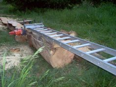 My chainsaw mill by don w @ lumberjocks com woodworking community Homemade Chainsaw Mill, Portable Chainsaw Mill, Portable Saw Mill, Woodworking Techniques, Woodworking Jigs, Woodworking Projects, Carpentry, Lumber Mill, Wood Mill