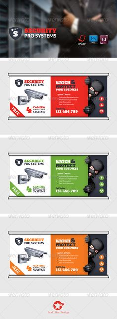 Security Systems Billboard Template #design Download: http://graphicriver.net/item/security-systems-billboard-templates/8728125?ref=ksioks