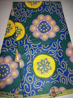 African print fabric per yard/ Real wax print/ by tambocollection