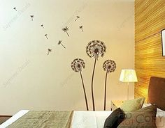 Dark Brown Huge Dandelion  Beautiful Wall Decals for Kids Rooms Teen Girls Boys Wallpaper Murals Sticker Wall Stickers Nursery Decor Nursery Decals * Check out this great product.