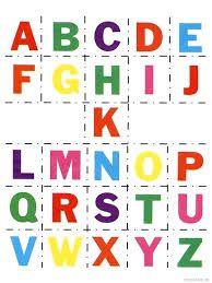Alphabet Cut and Paste - ABC Matching Activity Sheets Alphabet Letters To Print, Alphabet Book, Kids Alphabet, Spanish Alphabet, Preschool Alphabet, Alphabet Worksheets, Alphabet Charts, Handwriting Worksheets, Handwriting Practice