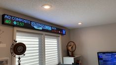 An 8 Foot LED Stock Ticker for a home office to show the latest market updates. Stock Market Ticker, Stock Market Chart, Stock Ticker, Game Room Kids, Game Room Basement, Game Room Decor, Room Setup, Pc Setup, Home Office Setup