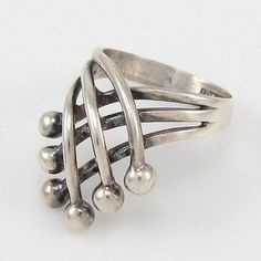 "nice Erik Granit, vintage modernist sterling silver ""Crown"" ring, 1970's. #Finl..."