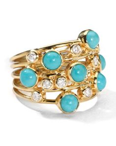 Turquoise & Diamond Constellation Ring by Ippolita at Neiman Marcus.
