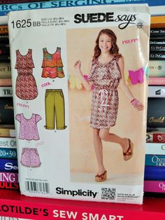 2013 Simplicity Pattern Suede Says  by PaperWardrobesEtc on Etsy