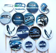 15 Seattle Seahawks Football Party Picks  by ThePrettyPaperShop, $4.99