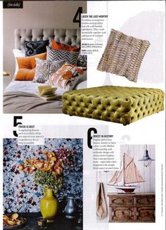 Design in Print│The Sunday Telegraph & The Sunday Herald Sun March 2014 featuring the Arthur G Deep Button Ottoman