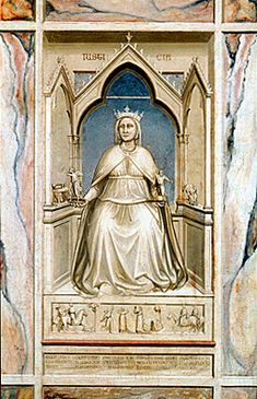 La Justice, vers 1303-1305, Giotto, Padoue, chapelle des Scrovegni