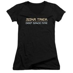 "Checkout our #LicensedGear products FREE SHIPPING + 10% OFF Coupon Code ""Official"" Star Trek / Deep Space Nine Logo - Junior V-neck - Star Trek / Deep Space Nine Logo - Junior V-neck - Price: $29.99. Buy now at https://officiallylicensedgear.com/star-trek-deep-space-nine-logo-junior-v-neck"