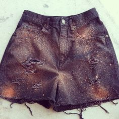 Galaxy Shorts DIY high waist vintage denim