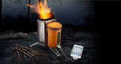 Chargeur iphone ... au feu de bois !$129