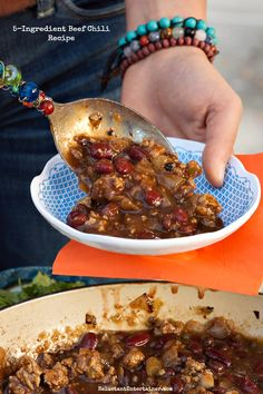 A Chili Party: 5-Ingredient Beef Chili Recipe