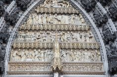 Tympanum Relief, Portal of Mary, West Facade, Cologne Cathedral, Germany, ...