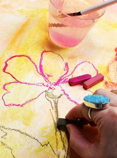 Chalk pastels alone are a really fun supply but when you mix pastels with water you are able to use them in a totally different way! Wh...