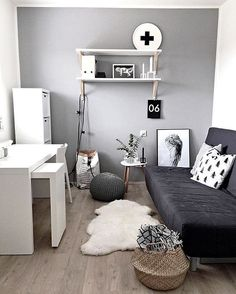 Scandi minimal workspace // via /workspacegoals/ on Instagram