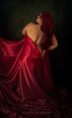 Brittney She're Meyer in red satin sheets, candles and Shibari Satin Sheets, Red Candles, Red Satin, Lady In Red, Vintage Inspired, Portraits, Glamour, Fine Art, Photography