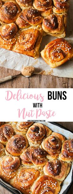 Delicious Buns with Nut Paste and the taste of peanut.