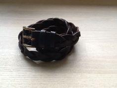 Flettet læderbælte 2,2 cm
