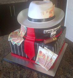 Mafia Theme Birthday Cake by Lucrecia1511.deviantart.com on @deviantART