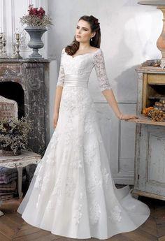 c36a482b360 New White Ivory Fashion Lace Half sleeves Wedding Dress Bridal Gown Custom  Size