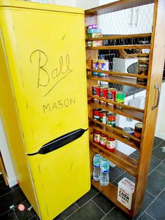 Make even a small space usable with this DIY roll out pantry!