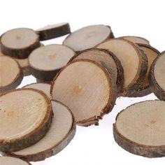 20 rondins de bois forme ronde - bois naturel Cultura 2.29€