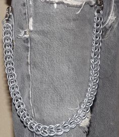 Wallet Chain  Full Persian / Foxtail Weave by BaileyCraft on Etsy, $20.00