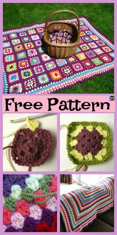These crochet granny squares are pretty and very simple project to crochet.You could crochet them together and make a very colorful blanket or something Sunburst Granny Square, Flower Granny Square, Granny Square Crochet Pattern, Afghan Crochet Patterns, Crochet Squares, Crochet Granny, Granny Squares, Crochet Sunflower, Crochet Disney