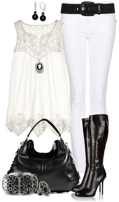 """Monochrome Chic"" by angela-windsor on Polyvore"