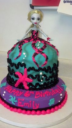 Monster High Cake-Lagoona Blue