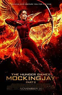 The Hunger Games: Mockingjay – Part 2 is a 2015 American science fiction war film directed by Francis Lawrence, with a screenplay by Peter Craig and Danny Strong. It is the fourth and final installment in The Hunger Games film series, and the second of two films based on the novel Mockingjay, the final book in The Hunger Games trilogy, by Suzanne Collins. Produced by Nina Jacobson and Jon Kilik, and distributed by Lionsgate.