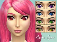 The Sims Resource: Anime Eyes by Miep • Sims 4 Downloads