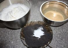 Fantastické višňovo-makové rezy, Zákusky, recept   Naničmama.sk Pudding, Mascarpone, Custard Pudding, Puddings, Avocado Pudding